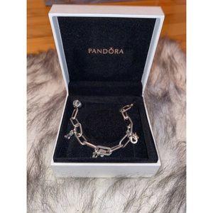 pandora bracelet and 6 charms👀🦋